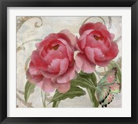 Framed Apricot Peonies I