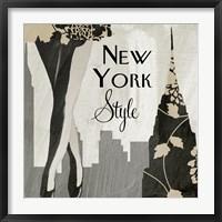 New York Style I Framed Print