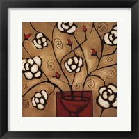 Framed Red Vase One