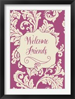 Framed Welcome Flag Pink
