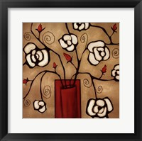 Framed Red Vase Two
