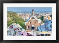 Framed Park Guell Terrace, Barcelona, Spain