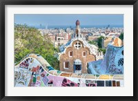 Framed Park Guell Terrace, Barcelona, Spain