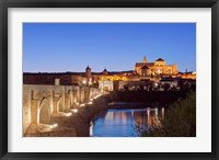 Framed Roman Bridge, Catedral Mosque of Cordoba, Cordoba, Andalucia, Spain