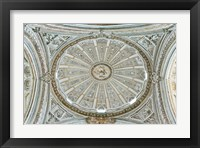 Framed Catedral Mosque of Cordoba, Ceiling, Cordoba, Andalucia, Spain