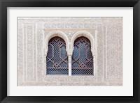 Framed Nasrid Palace, Alhambra, Granada, Andalucia, Spain
