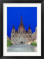 Framed Gothic Quarter, Barcelona Cathedral, Barcelona, Spain