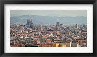 Framed Spain, Barcelona The cityscape viewed from the Palau Nacional