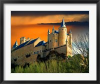 Framed Alcazar castle at sunset, Segovia, Spain