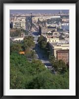 Framed City View, Barcelona, Spain