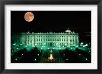 Framed Royal Palace and Plaza de Oriente, Madrid, Spain