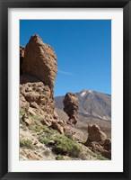 Framed Spain, Tenerife, Las Canadas, Volcanic rock