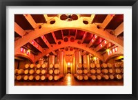 Framed Wine Cellar at Raimat, Costers del Segre, Catalonia, Catalunya, Spain