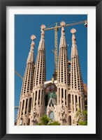 Framed La Sagrada Familia by Antoni Gaudi, Barcelona, Spain