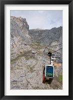 Framed Tram, Picos de Europa at Fuente De, Spain