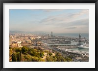 Framed View of Barcelona from Mirador del Alcade, Barcelona, Spain