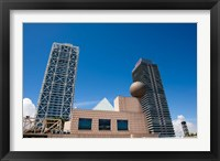 Framed Hotel Arts and Mapfre Tower, Olympic Harbor, Barcelona, Spain