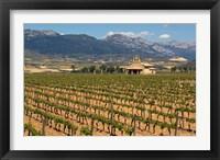 Framed Small church next to the Wine Culture Museum, Briones village, La Rioja, Spain