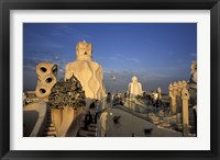 Framed Antonio Gaudi's Casa Mila, Barcelona, Spain