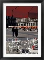 Framed Cafe Tables in Plaza Mayor, Madrid, Spain