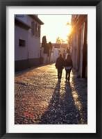 Framed Albaicin Sunset, Granada, Spain