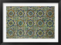 Framed Moorish Mosaic Azulejos (ceramic tiles), Casa de Pilatos Palace, Sevilla, Spain