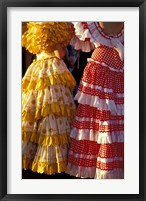 Framed Colorful Flamenco Dresses at Feria de Abril, Sevilla, Spain