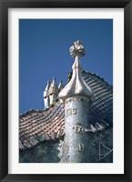 Framed Antonio Gaudi's Cassa Batilo, Barcelona, Spain