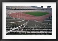 Framed Olympic Stadium, Barcelona, Spain