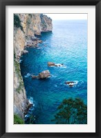 Framed Spain, Cantabria, Faro del Caballo, Mount Buciero, Cliffs