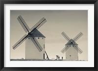 Framed La Mancha Windmills, Campo de Criptana, Castile-La Mancha Region, Spain