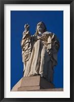 Framed Christ Atop Castilla Santa Cruz de la Mota, San Sebastian, Spain