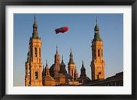 Framed Basilica de Nuestra Senora de Pilar, Zaragoza, Spain