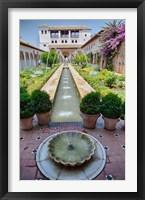 Framed Spain, Granada Patio de la Acequia at Generalife garden