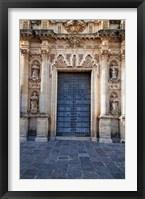 Framed Spain, Andalusia, Cadiz, Arcos De la Fontera Saint Peter's Church