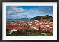 Framed View of Old Town, Laredo, Spain