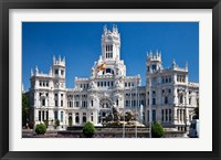 Framed Cibeles Palace is located on the Plaza de Cibeles in Madrid, Spain