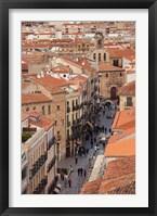 Framed Rua Mayor, Salamanca, Spain