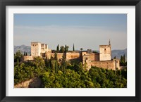Framed Spain, Andalusia, Granada Province, Granada View of Alhambra Palace