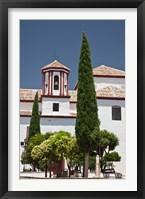 Framed Spain, Andalusia, Malaga Province, Ronda Church of Santa Cecilia