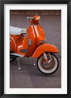 Framed Vespa Scooter, Llanes, Spain