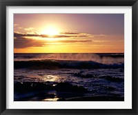 Framed Coastline at Sunset, Lanzarote, Canary Isles, Spain