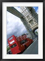 Framed Tower Bridge with Double-Decker Bus, London, England