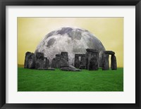 Framed Full Moon over Stonehenge, England
