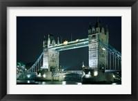 Framed Tower Bridge at Night, London, England
