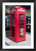 Framed Red Telephone Booth, London, England