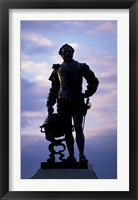 Framed Sir Francis Drake Statue, Plymouth, England