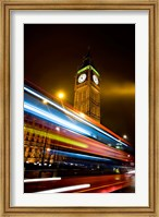 Framed London, Big Ben, Houses of Parliament, Red bus