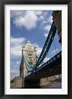 Framed Tower Bridge over the Thames River in London, England