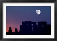 Framed England, Salisbury Plain, Stonehenge Moon